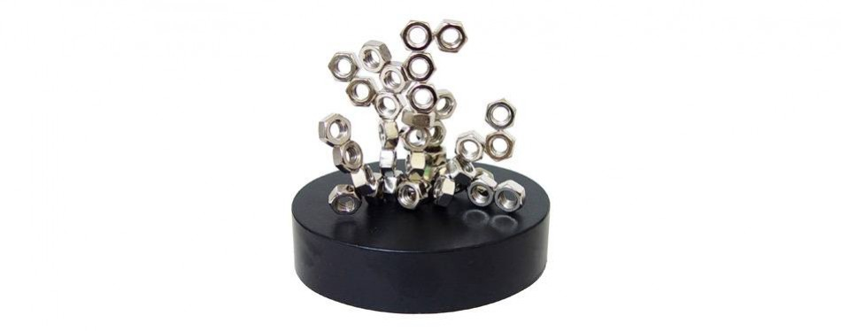linlinzz magnetic office sculpture - stacking nuts