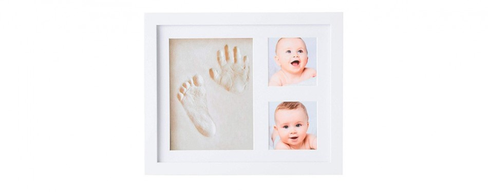 little hippo baby handprint kit and picture frame