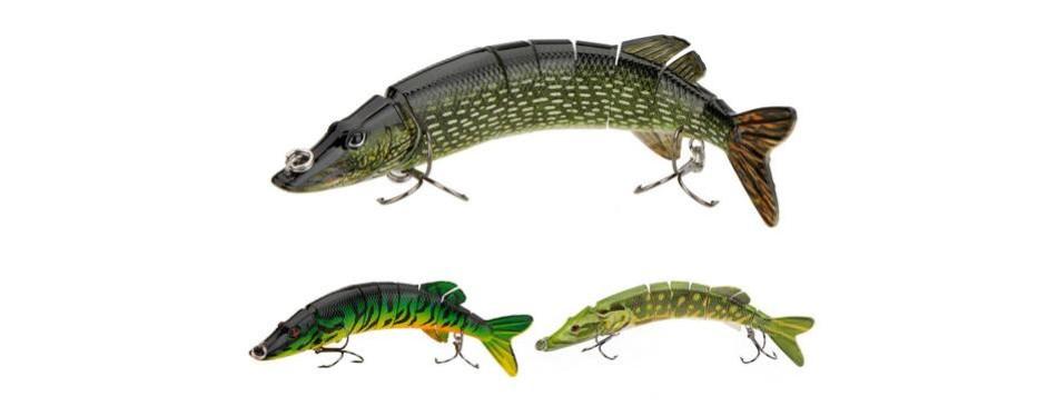lixada multi jointed fishing lure
