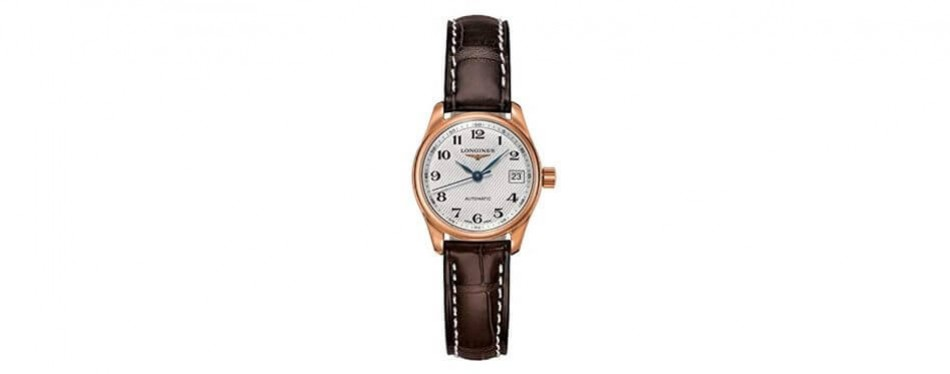 longines master collection automatic rose gold watch