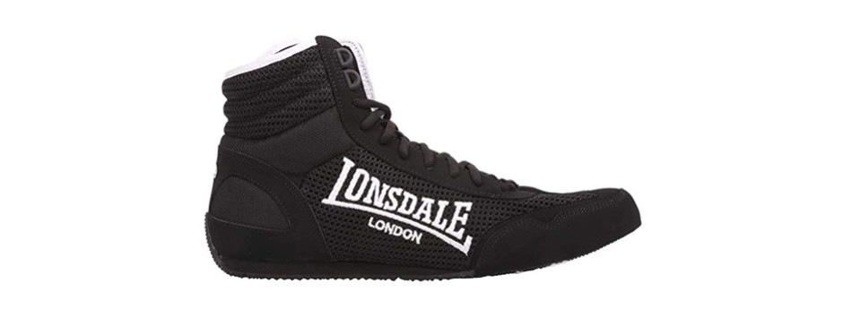 lonsdale mens contender boxing boots full lace up shoes