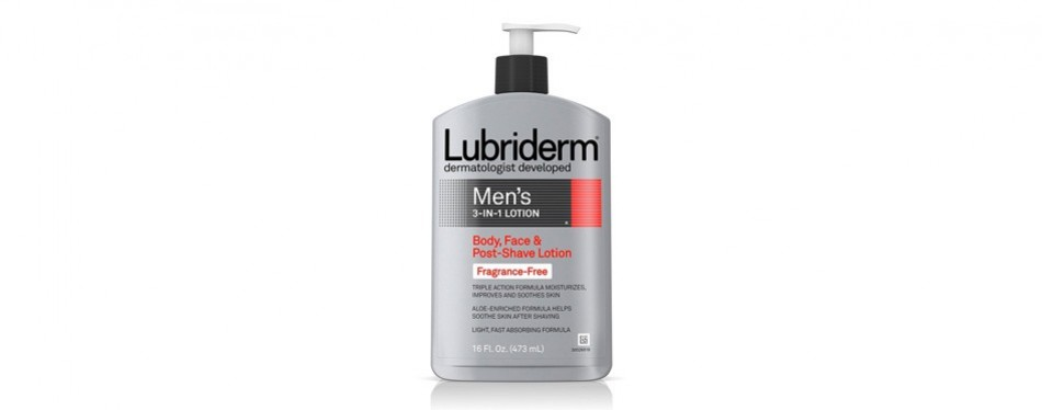 lubriderm men's 3-in-1 lotion