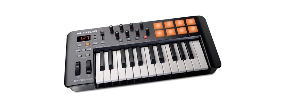 m-audio oxygen 25 mk iv usb pad/keyboard midi controller