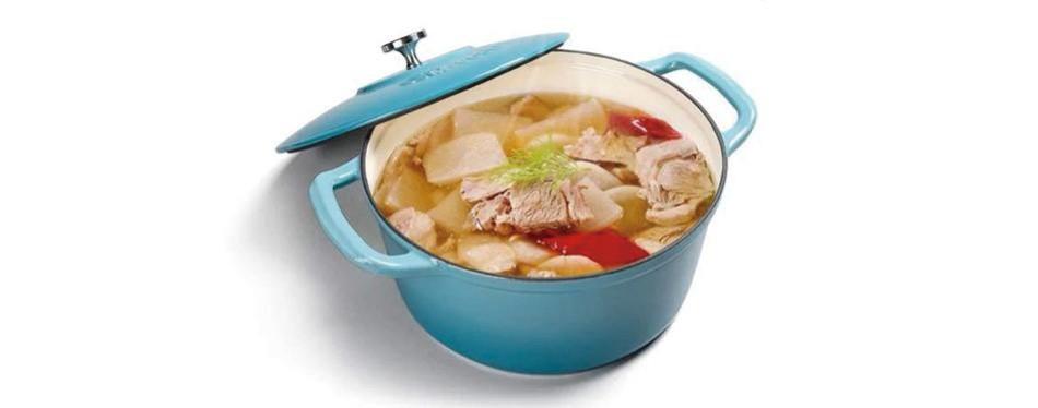 m-cooker 7 quart enameled cast iron pot