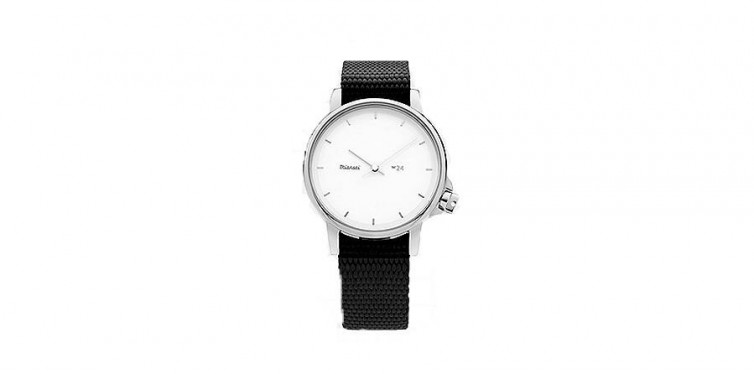 m24 ii white black nylon watch