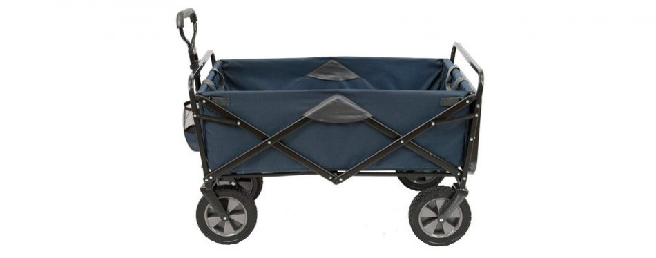 mac sports collapsible outdoor utility wagon with folding table