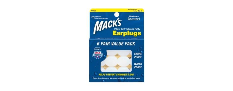 mack's pillow-soft silicone earplugs