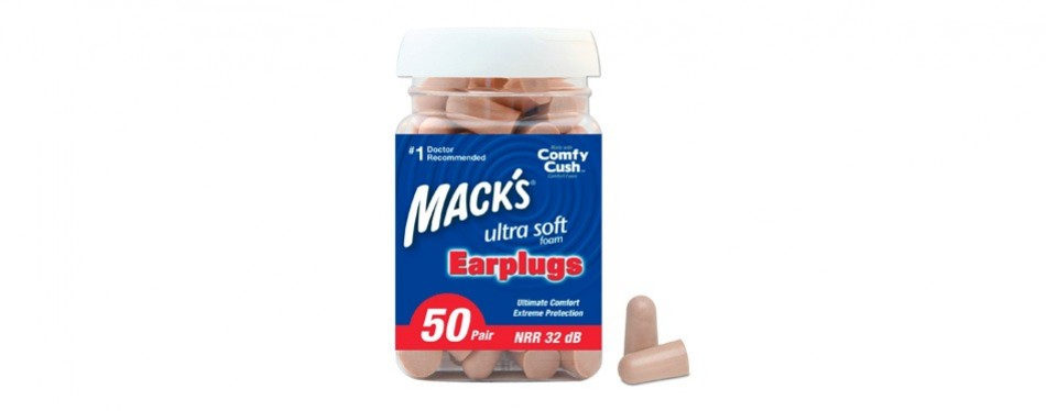 mack's ultra-soft foam earplugs