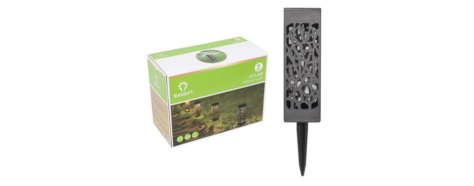maggift 8 piece solar powered led garden lights