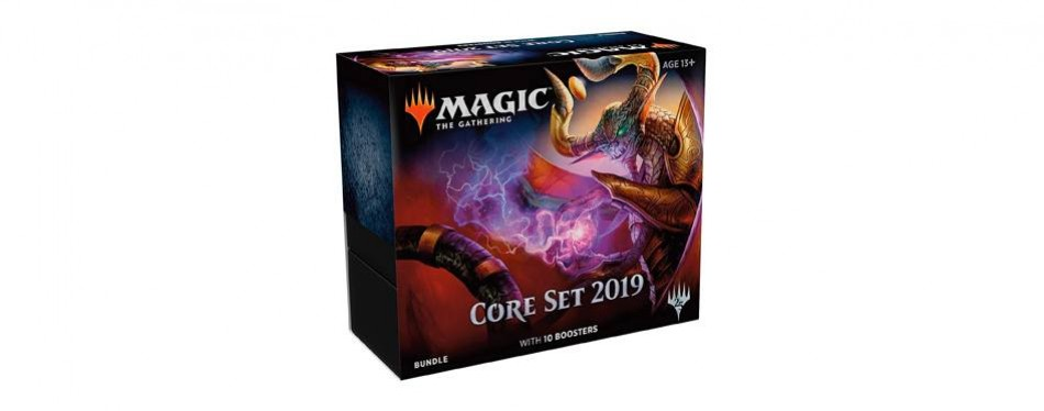 magic: the gathering core set 2019 bundle: 10 booster packs and more