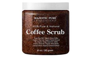 majestic pure arabica coffee scrub