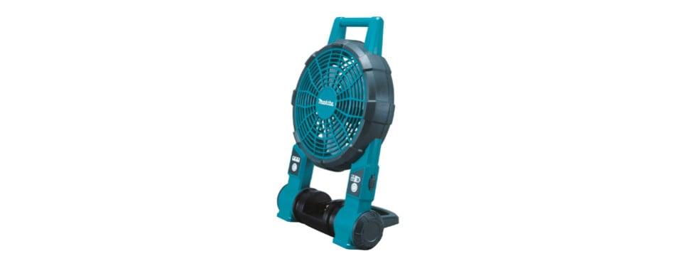 makita 18 volt cordless jobsite fan