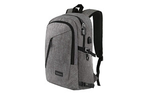 mancro computer bag with usb charging port and lock