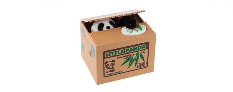 mansa cute stealing panda money box