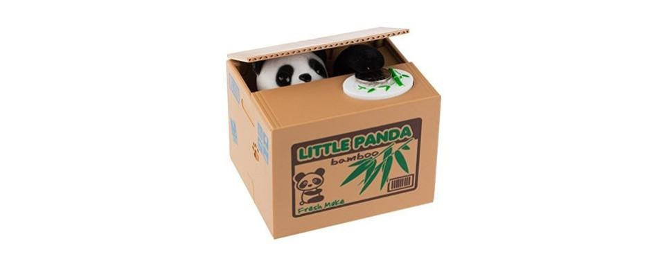 mansa cute stealing panda money box