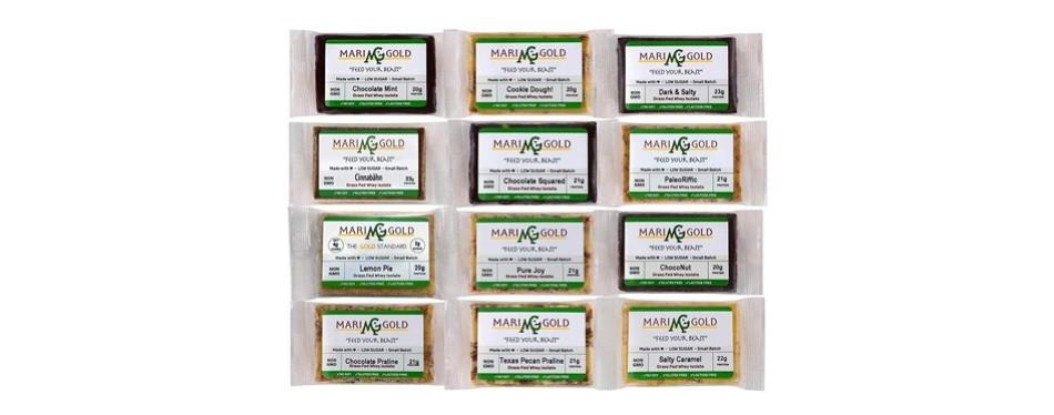 marigoldgrass fed whey protein bars