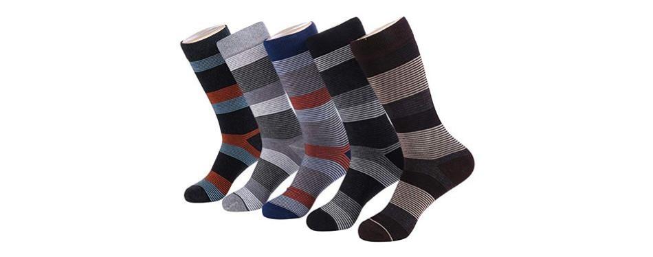 marino men's patterned dress socks