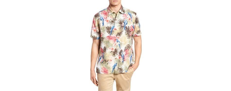 marino paradise silk shirt