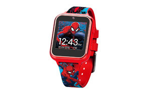 marvel boys' touch-screen watch with silicone strap
