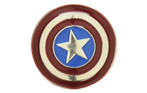 marvel captain america colored pewter lapel pin