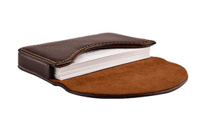 maxgear leather business card holder case