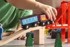 melissa and doug magnetic wooden railway train