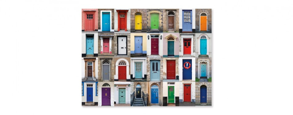 melissa & doug – knock knock doorways – 1000 piece jigsaw puzzle