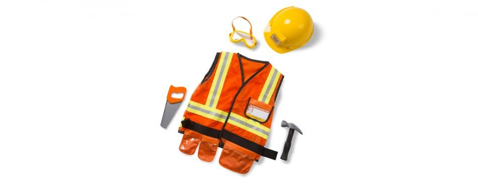 melissa & doug construction worker role play costume dress-up