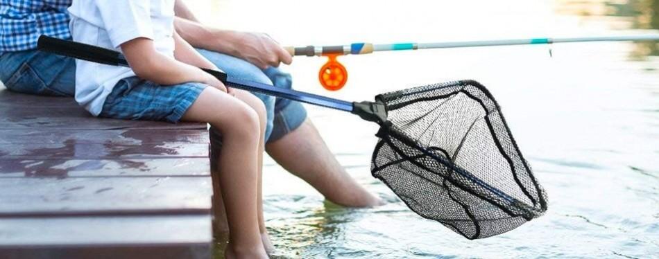 melktemn foldable fish landing fishing net