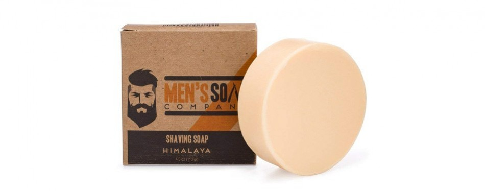 men's soap company shaving soap with natural ingredients