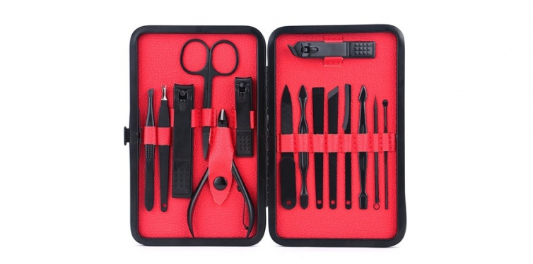 WoneNice 15 In 1 Stainless Steel Mens Manicure Set