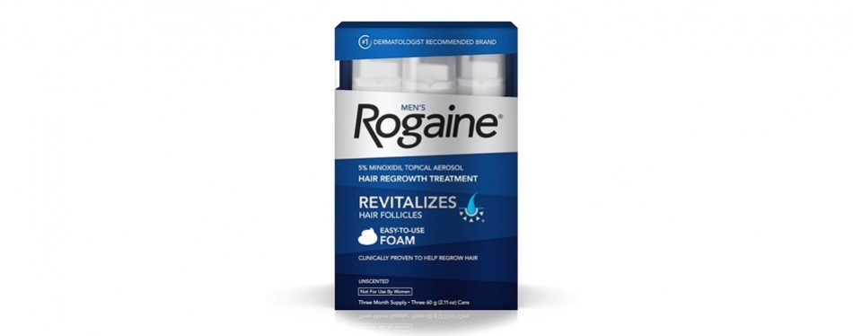 men's rogaine hair loss & hair thinning treatment