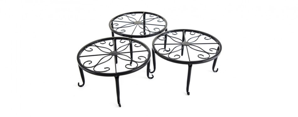 metal 3 in 1 potted plant floor stand