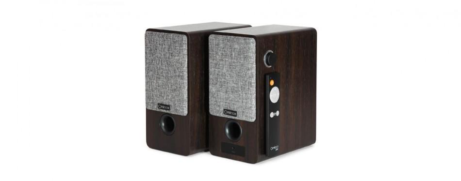micca on3 3-inch powered bookshelf speakers