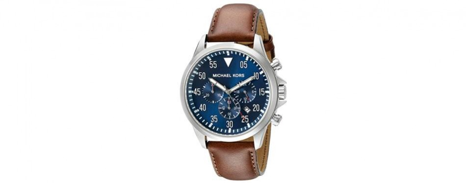 michael kors men's gage brown watch