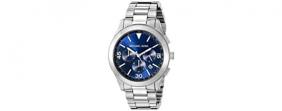 michael kors men's gareth silver-tone watch