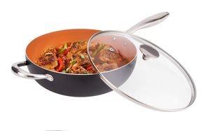 michaelangelo 5-quart non-stick wok with lid