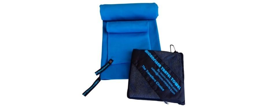 microfiber travel towel with free hand towel