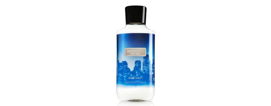 midnight body lotion, by bath & body works