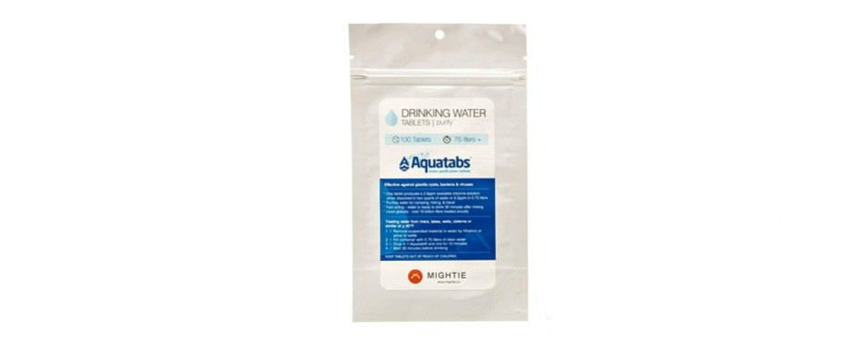 mightie company water purification tablets