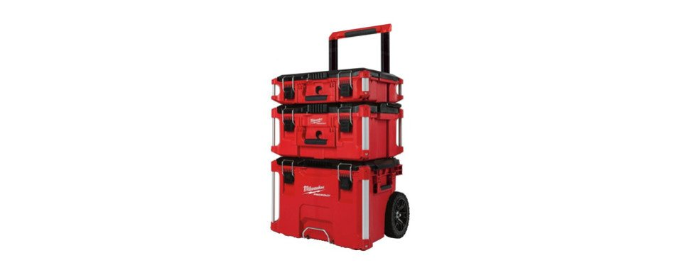 milwaukee packout rolling stackable tool box