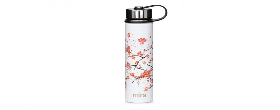 mira stainless steel vacuum insulated wide mouth thermos flask