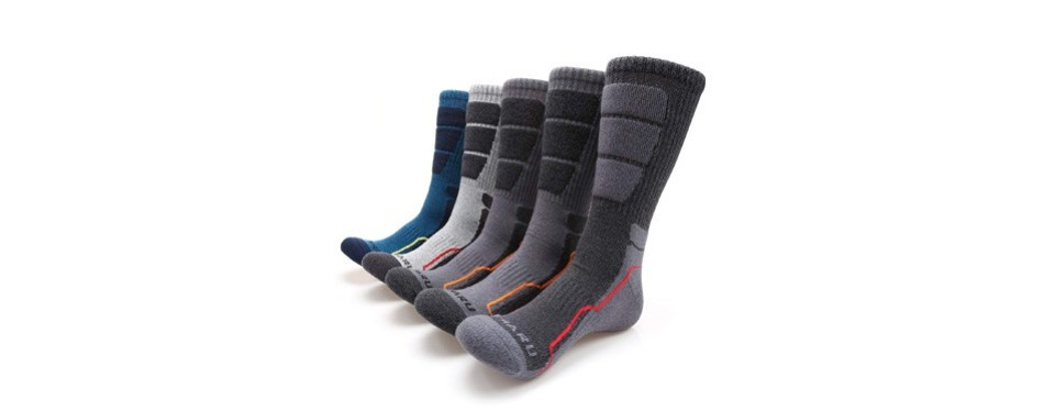 mirmaru moisture wicking cushion crew socks