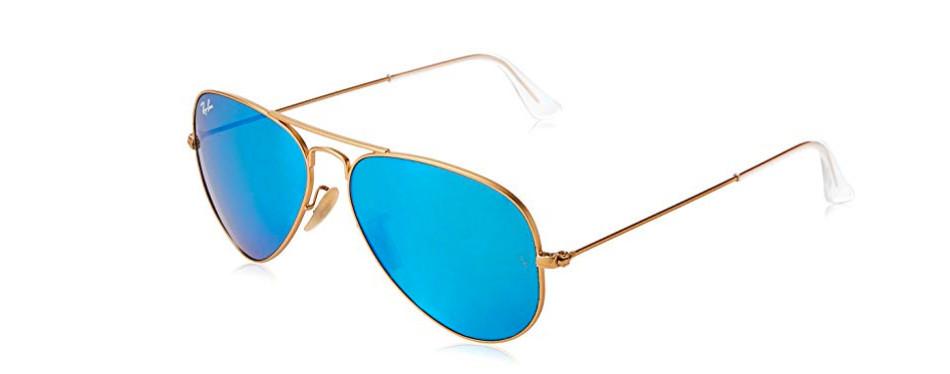 mirrored aviator shades