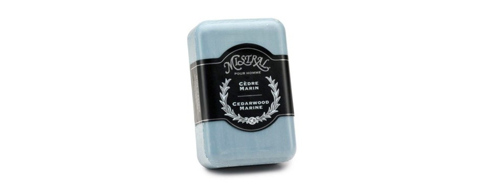 mistral men's soap cedarwood marine
