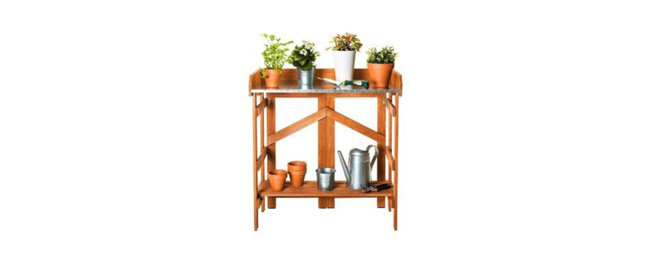 mj patio folding potting bench