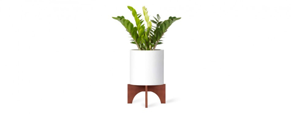 "mkono mid century 12"" wood plant stand"