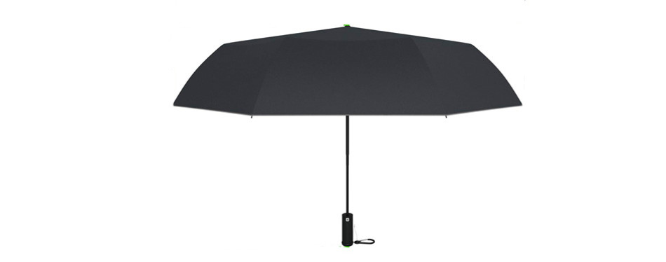m&m² lightweight windproof compact travel black rain umbrella