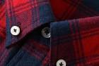 mocotono men's long sleeve flannel shirt
