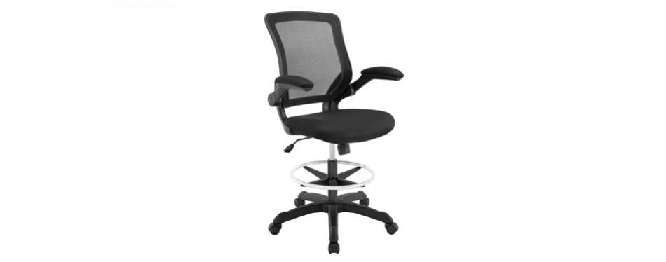 modway veer drafting stool